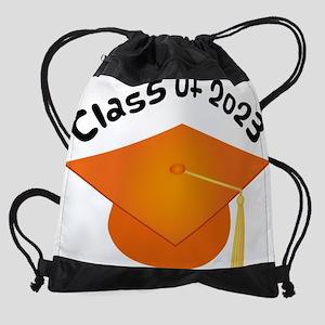 2023 orange hat david Drawstring Bag