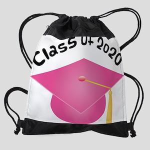 2020 pink hat Drawstring Bag