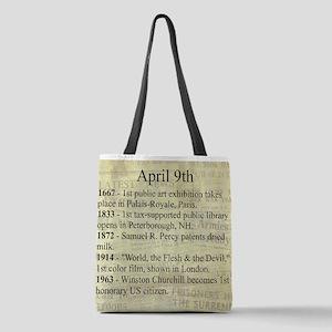 April 9th Polyester Tote Bag