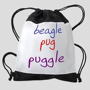 puggle_black Drawstring Bag