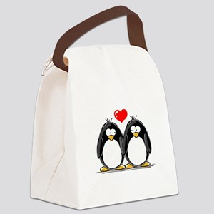 LovePenguins Canvas Lunch Bag