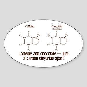 Caffeine & Chocolate Oval Sticker