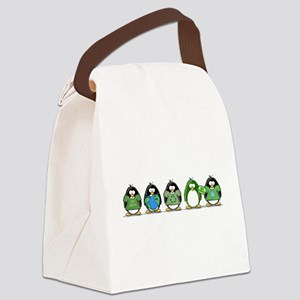 go green penguin group Canvas Lunch Bag