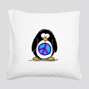 Peace Square Canvas Pillow