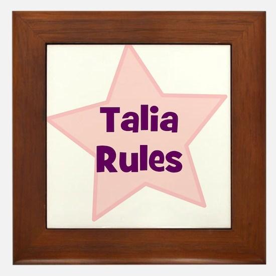 Talia Rules Framed Tile
