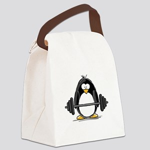 weight lifting Canvas Lunch Bag