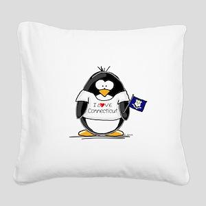 Connecticut copy Square Canvas Pillow