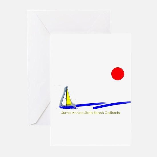 Santa Monica  Greeting Cards (Pk of 10)
