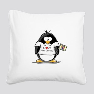 New Jersey copy Square Canvas Pillow