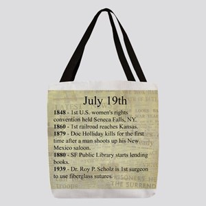 July 19th Polyester Tote Bag
