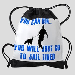 jail tired Drawstring Bag