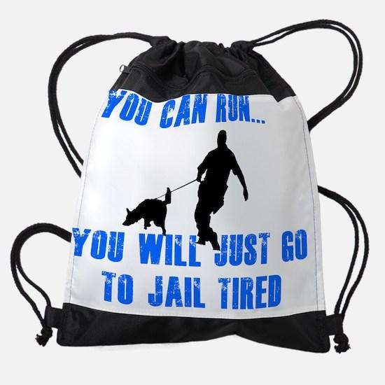 jail tired.png Drawstring Bag