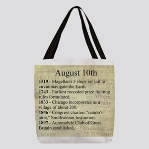 August 10th Polyester Tote Bag