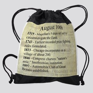 August 10th Drawstring Bag