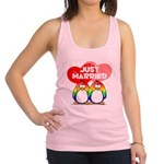 Just Married Rainbow2.png Racerback Tank Top