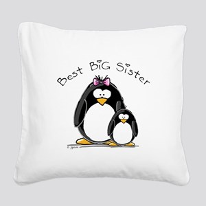 Best Big Sister Square Canvas Pillow