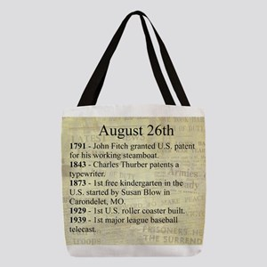 August 26th Polyester Tote Bag