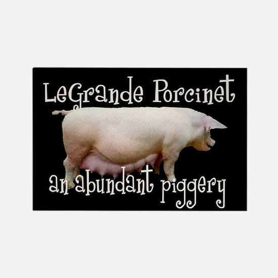 Le Grand Porcinet Rectangle Magnet