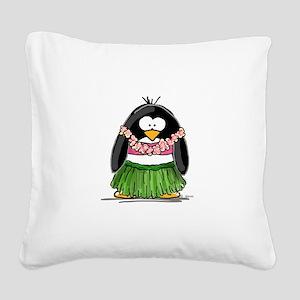 hula Square Canvas Pillow
