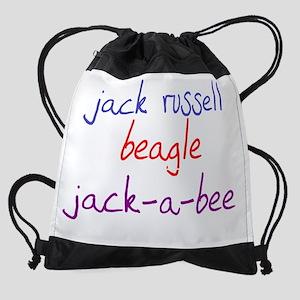 jackabee_black Drawstring Bag