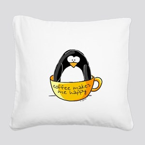 Coffee Square Canvas Pillow