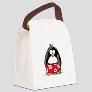penguin-swimtrucks Canvas Lunch Bag