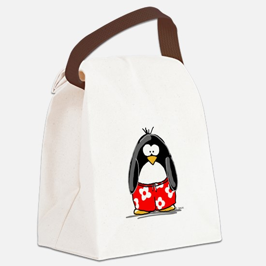 penguin-swimtrucks.jpg Canvas Lunch Bag