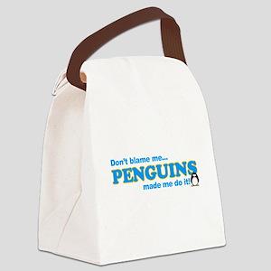 blame penguins Canvas Lunch Bag