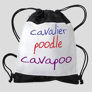 cavapoo_black Drawstring Bag