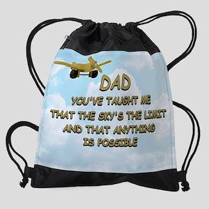 dad_airplane_sky Drawstring Bag