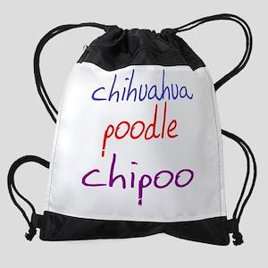 chipoo_black Drawstring Bag