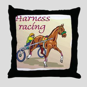HARNESS RACING Throw Pillow