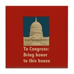 Congressional Honor Tile Coaster