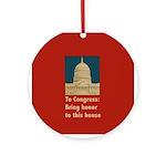 Congressional Honor Round Ornament