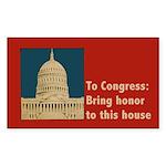 Congressional Honor Sticker (Rectangle)