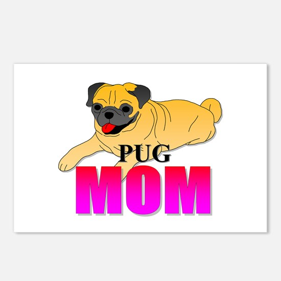 Fawn Pug Mom Postcards (Package of 8)
