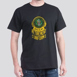Army Retirement Uniform Dark T-Shirt