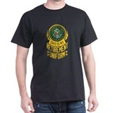 Army retired Mens Classic Dark T-Shirts