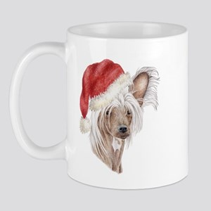 Christmas Chinese Crested dog Mug