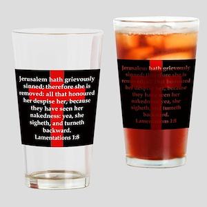 Lamentation 1-8 Drinking Glass