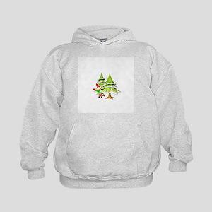 Waving Merry Christmas Kids Hoodie