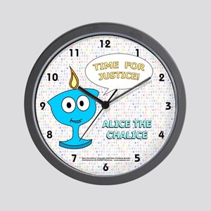 """Alice the Chalice"" TIME FOR JUSTICE Wall Clock"