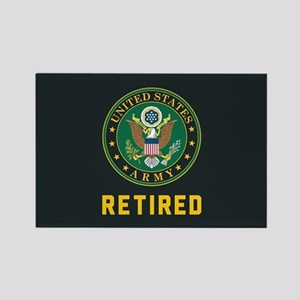 US Army Retired Rectangle Magnet
