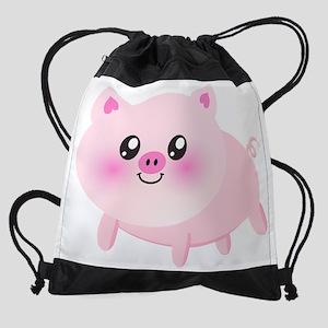 cute pig Drawstring Bag