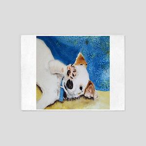 Jack Russell Terrier Junior 5'x7'Area Rug