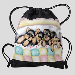 Sleeping Babies Drawstring Bag