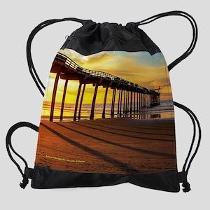 Scripps Pier, La Jolla, CA Drawstring Bag