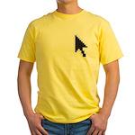 ARROW POINTER CURSOR Yellow T-Shirt