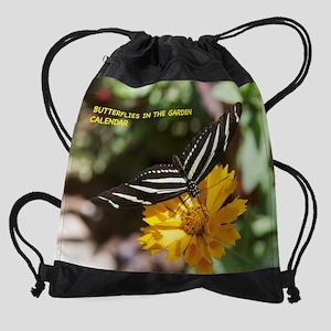 Butterflies In The Garden Drawstring Bag