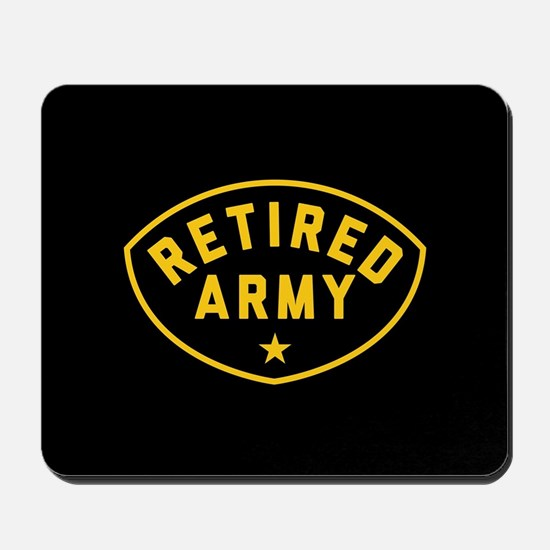 Retired Army Mousepad